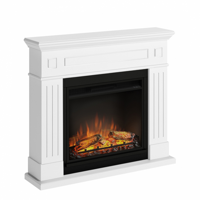 Semineu TAGU Larsen Pure White cu Focar Electric PowerFlame, 23 inch, FM462-WH1 + 23PF1A 2