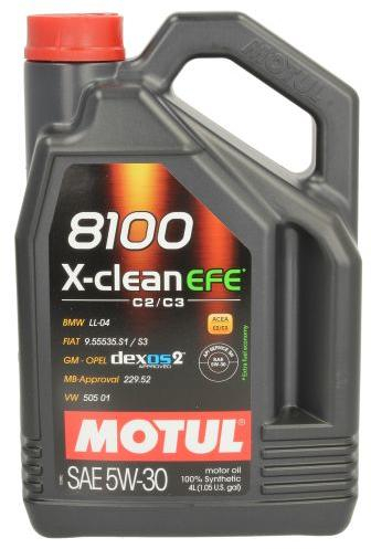 Ulei motor MOTUL 8100 X-Clean EFE, 5W30, 5L [0]