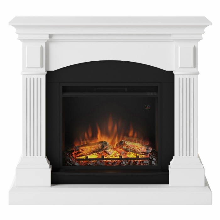Semineu TAGU Magna Pure White cu Focar Electric PowerFlame, 23 inch, FM464-WH1 + 23PF1A 0