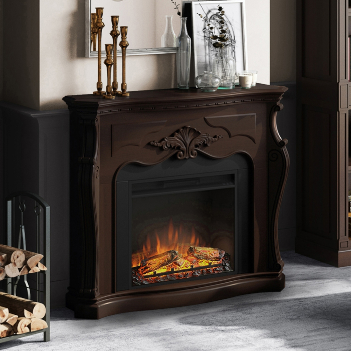 Semineu TAGU Gala Royal Walnut cu Focar Electric PowerFlame, 23 inch, FM465-WA2 + 23PF1A 1