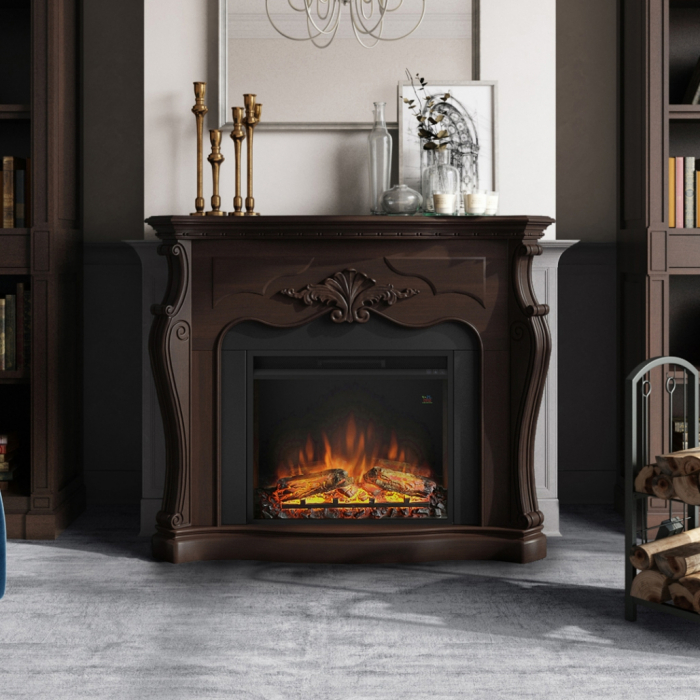 Semineu TAGU Gala Royal Walnut cu Focar Electric PowerFlame, 23 inch, FM465-WA2 + 23PF1A 5