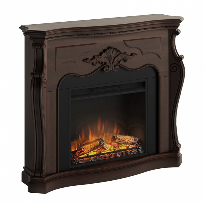 Semineu TAGU Gala Royal Walnut cu Focar Electric PowerFlame, 23 inch, FM465-WA2 + 23PF1A 4