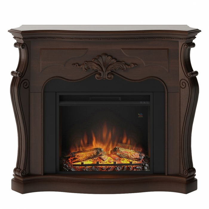 Semineu TAGU Gala Royal Walnut cu Focar Electric PowerFlame, 23 inch, FM465-WA2 + 23PF1A 0