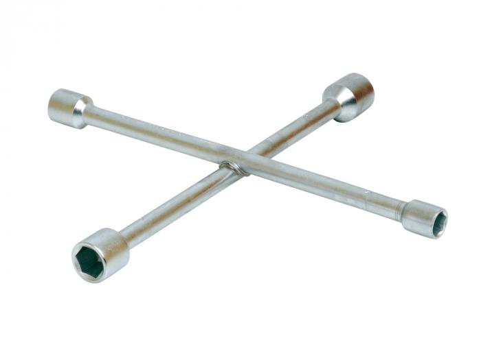 Cheie tubulara in cruce pentru roti, crom, diverse dimensiuni, Mob&Ius [0]
