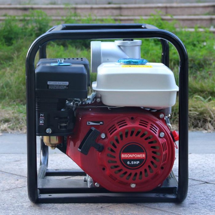 Motopompa Bison  BSWP30,  apa curata, 3'' intrare-iesire, motor pe benzina 4T, debit maxim 56m³/h, 8m adancime maxima, 30m inaltime refulare 7