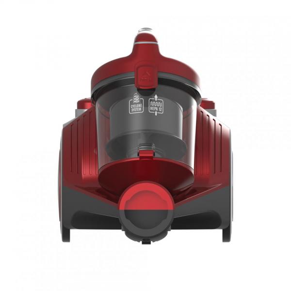 Aspirator fara sac Heinner HVC-MC700RD, 700 W, Filtrare ciclonica, Filtru Hepa 12, Rosu 0