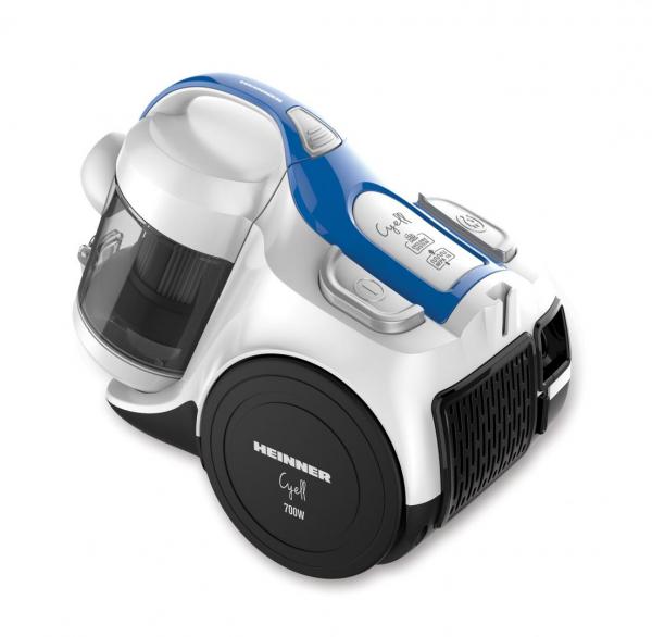 Aspirator fara sac Heinner HVC-MC700WB, 700 W, 2 L, Hepa 10, Albastru/Alb 1