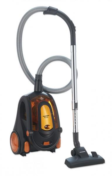 Aspirator fara sac Heinner Monarch HVC-V800BK, 800W, putere absorbtie >180W, 2.2L, tija telescopica din metal, accesorii 2 in 1, perie canapea, negru/orange 0