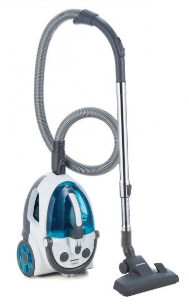 Aspirator fara sac Heinner SeaShade HVC-V800WBL, 800W, putere absorbtie: >170W, 2L, tija telescopica din metal, accesorii 2 in 1, perie canapea, alb/albastru 0