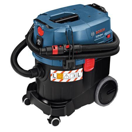 Aspirator universal Bosch Professional GAS 35 L SFC, 1200 W, 74 l/s flux volumic maxim, 23 l volum rezervor, 254 mbari subpresiune maxima 8