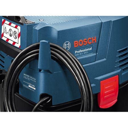 Aspirator universal Bosch Professional GAS 35 L SFC, 1200 W, 74 l/s flux volumic maxim, 23 l volum rezervor, 254 mbari subpresiune maxima 7