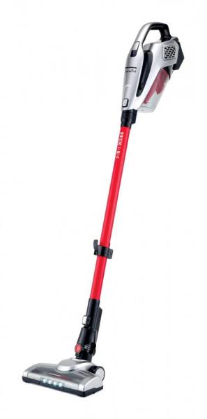 Aspirator vertical Heinner SunsetRed HSVC-V22.2RD, motor BLDC, sistem de filtrare ciclonic, dubla utilizare: aspirator vertical sau de mana, acumulator Li 22.2V, 195W, 2 14kPa, t 0