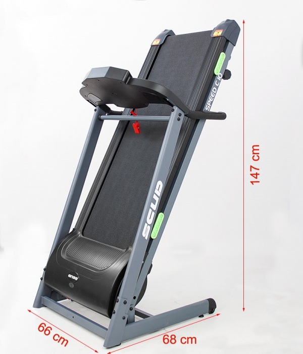 Banda de alergare electrica Scud Speed C10, 4 CP, 110 kg 6
