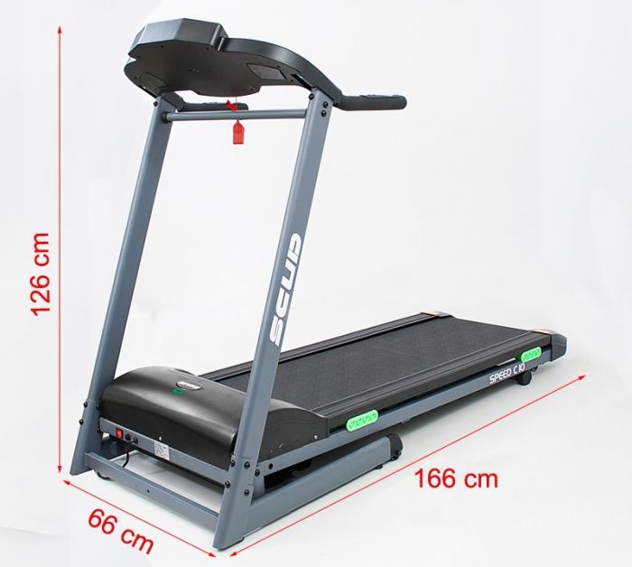 Banda de alergare electrica Scud Speed C10, 4 CP, 110 kg 5