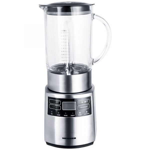 Blender Heinner Master Collection HBL-1000XMC, 1000 W, 1.5 l, 6 programe, functie Pulse, Negru/Argintiu 0