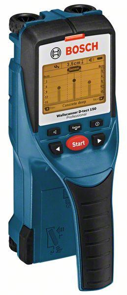 Bosch D-Tect 150 Detector, 150mm, precizie 5mm + 4 Baterii 1.5V LR6 (AA) + Geanta protectie 0