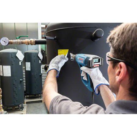 Pistol cu aer cald Bosch Professional GHG 23-66, 2300 W, 500 l/min dedbit aer maxim, 50-650°C temperatura lucru + talpa de sudura + 4 duze + geanta transport 4