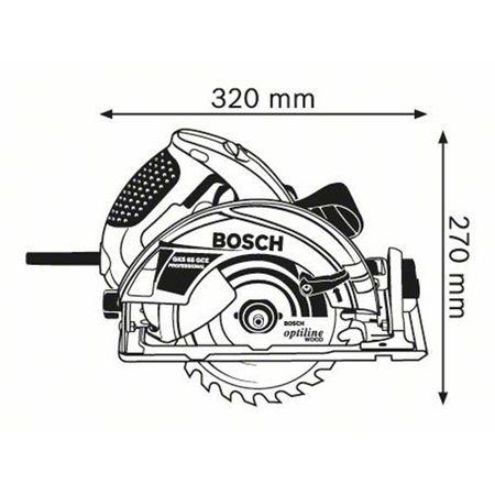 Ferastrau circular Bosch GKS 65 GCE, 1800W, 190mm 1
