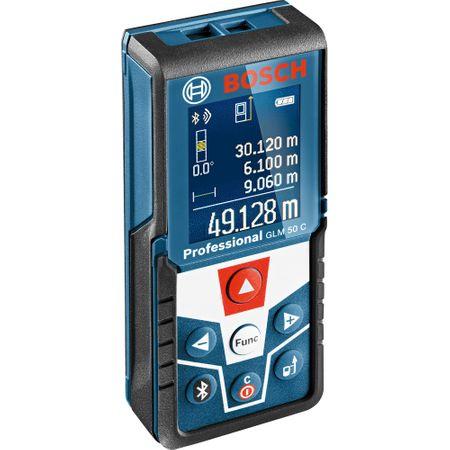 Telemetru laser cu functie de conectivitate Bosch GLM 50 C, 0.05-50m, precizie 1.5 mm/m 0