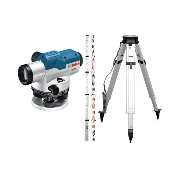 Bosch GOL 26G + BT160 + GR500 Set nivela optica, factor marire 26x, precizie 1.6 mm/30 m 0