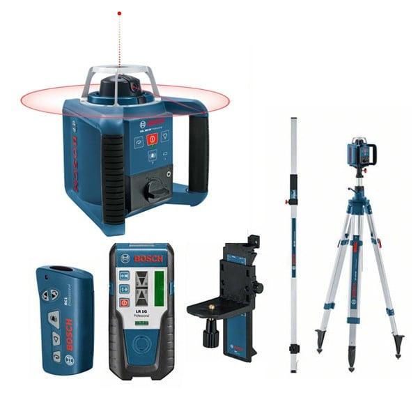 Bosch GRL 300 HV + BT300 + GR240 Set nivela laser rotativa, 60m, receptor 300m, precizie 0.1 mm/m [0]