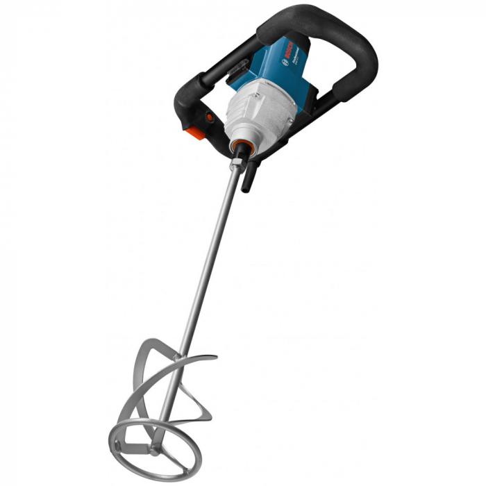 Amestecator vopsea/mortar Bosch Professional GRW 18-2 E, 1800 W, 1050 RPM, 19 Nm, 2 trepte de putere, 580 RPM + paleta agitatoare 160 mm diametru 0