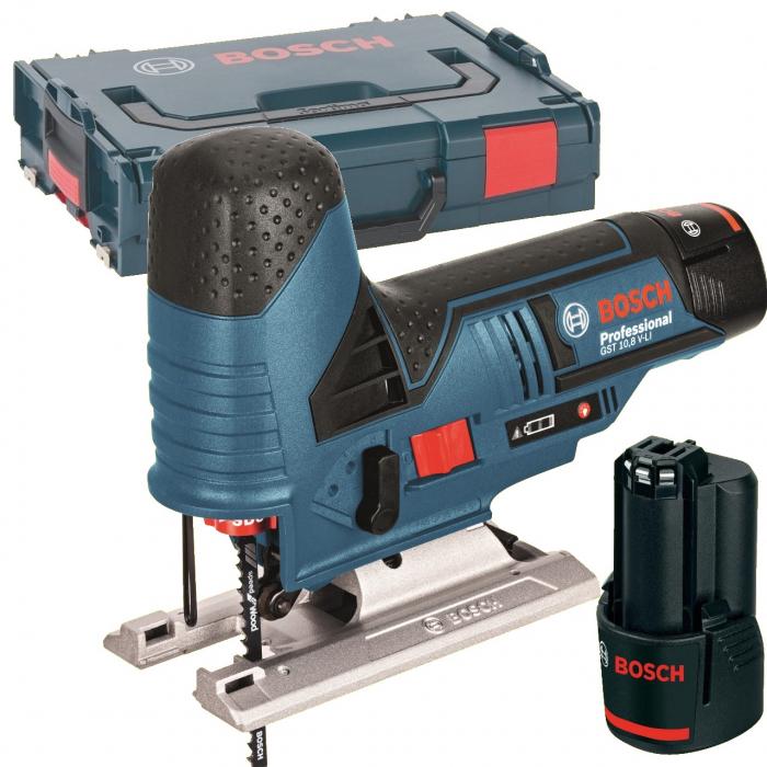 Bosch GST 12V-70 Ferastrau vertical cu acumulator, 12V, 70mm + 2 x Acumulatori GBA 12V 2.0Ah + Incarcator rapid GAL 1230 CV + L-Boxx 102 [0]