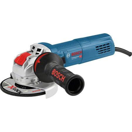Polizor unghiular Bosch Professional X-Lock GWX 9-125 S, 900 W, 11.000 RPM, 125 mm diametru disc + cutie + maner auxiliar + aparatoare de protectie 0