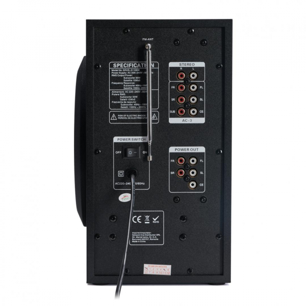 BOXA 5.1 SERIOUX SOUNDRISE SRXS-51105W 3