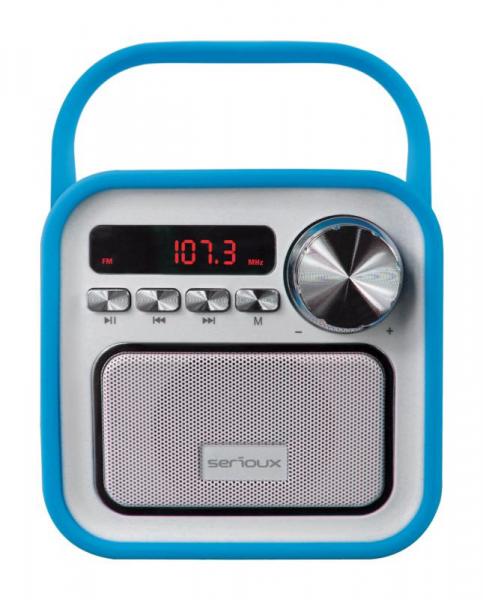 Boxa portabila Serioux Joy, Bluetooth, Radio FM, miscroSD, Albastru 0