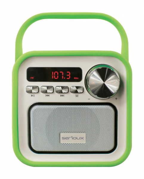 Boxa portabila Serioux Joy, Bluetooth, Radio FM, miscroSD, Verde 0