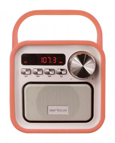 Boxa portabila Serioux Joy, Bluetooth, Radio FM, miscroSD, Portocaliu 0