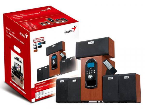 BOXE 5.1 GENIUS SW-HF5.1 6000 WOOD 0