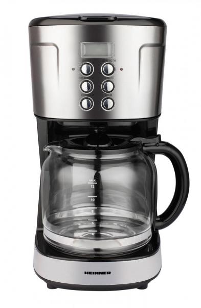 Cafetiera digitala HCM-D915BKS Heinner, 900 W, 1.5 L, timer, Negru/Inox 1