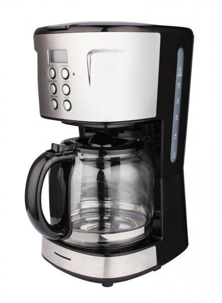 Cafetiera digitala HCM-D915BKS Heinner, 900 W, 1.5 L, timer, Negru/Inox 0