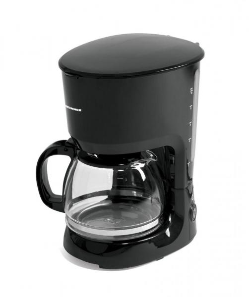 Cafetiera Heinner HCM-750BK, 750W, 1.25L, anti-picurare, mentinere cald, Negru 0