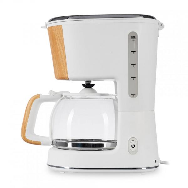 Cafetiera Heinner HCM-WH900BB, 900 W, 1.25 L, filtru detasabil, anti-picurare, oprire automata, Alb 1