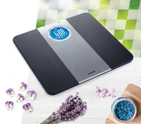 Cantar corporal de diagnostic Heinner HDS-150BKSL, 150kg, memorie 8 persoane, LCD, gradare 50g, platforma de plastic 0