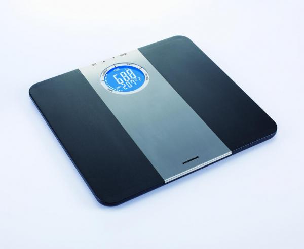 Cantar corporal de diagnostic Heinner HDS-150BKSL, 150kg, memorie 8 persoane, LCD, gradare 50g, platforma de plastic 1