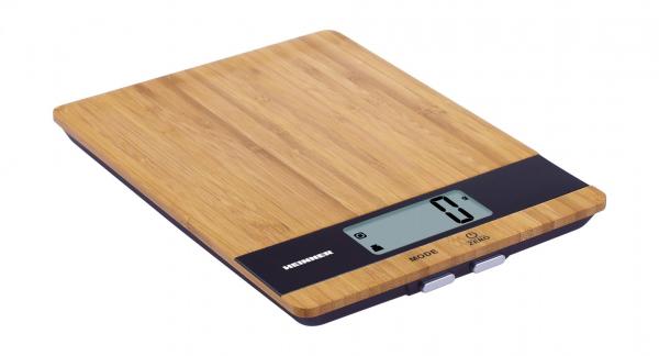 Cantar de bucatarie Heinner HKS-5BB, 5kg, tara, functie cantarire lichide, 1 gr., Bambus 0
