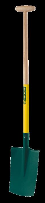 Cazma cu margine - 28 cm, coada din lemn  certificat, PEFC 100%, capat forma T 0