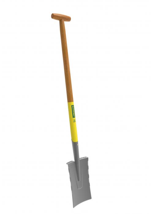 Cazma slefuita model Nord DUOPRO - 28 cm, coada din lemn, certificat PEFC 100%, capat forma T 1
