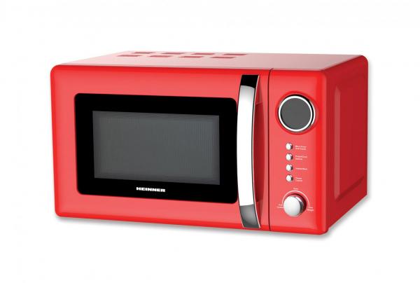 Cuptor cu microunde HEINNER HMW-20GRD, 20 l, 700 W, Digital, Grill, Rosu 0