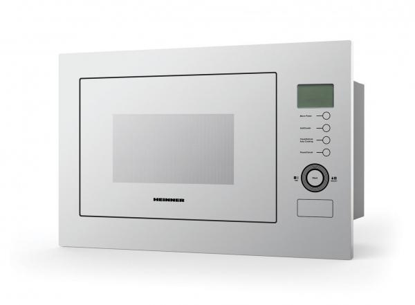 Cuptor cu microunde incorporabil Heinner HMW-25BIGWH, 25 L, 900 W, Grill, Control touch, Display LCD, Sticla Alba 0
