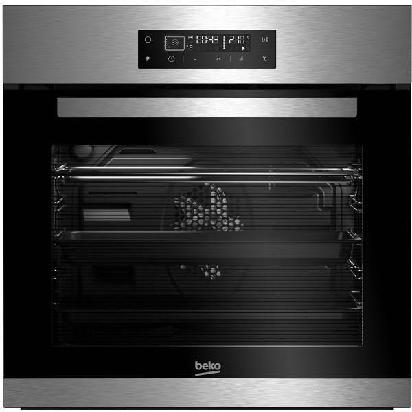 Cuptor incorporabil Beko BIE22400XP, Electric, Multifunctional, Timer, Grill, Display LED, Touch control, Autocuratare pirolitica, 71 l, Clasa A, Inox 0