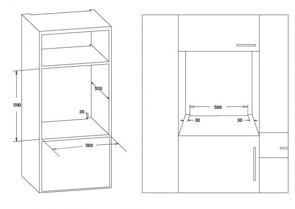 Cuptor incorporabil Heinner HBO-S567LDTGC-IX, Electric, 56 l, Mutifunctional, 7 Functii, Grill, Display Touch, Clasa A, Inox 3