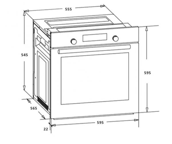 Cuptor incorporabil Heinner HBO-S567LDTGC-IX, Electric, 56 l, Mutifunctional, 7 Functii, Grill, Display Touch, Clasa A, Inox 2