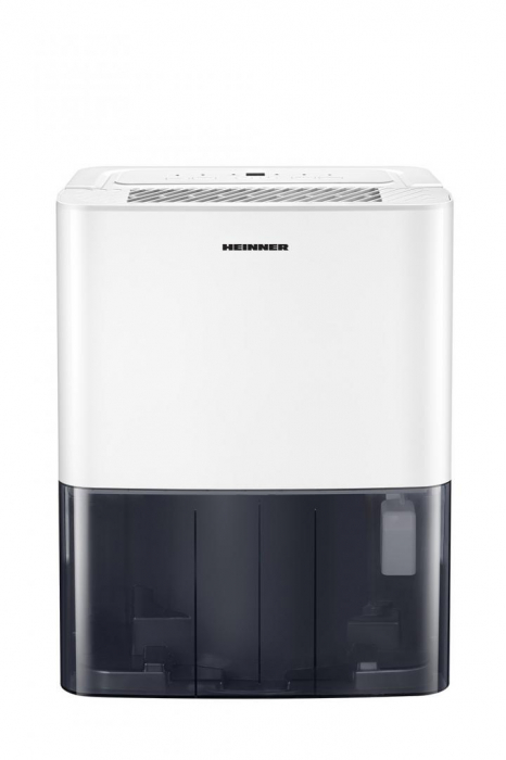 Dezumidificator Heinner HDU-M10, 10L/24h, control electronic, auto-restart, auto-oscilare, auto-dezghetare, timer 24h, 2.1L, maner, alb [3]