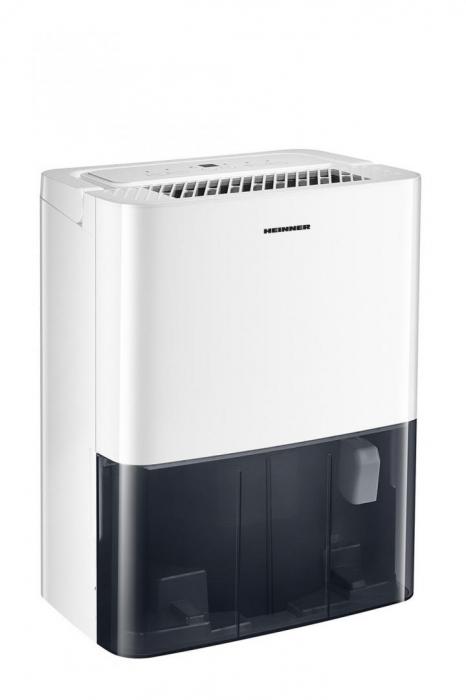 Dezumidificator Heinner HDU-M10, 10L/24h, control electronic, auto-restart, auto-oscilare, auto-dezghetare, timer 24h, 2.1L, maner, alb [0]