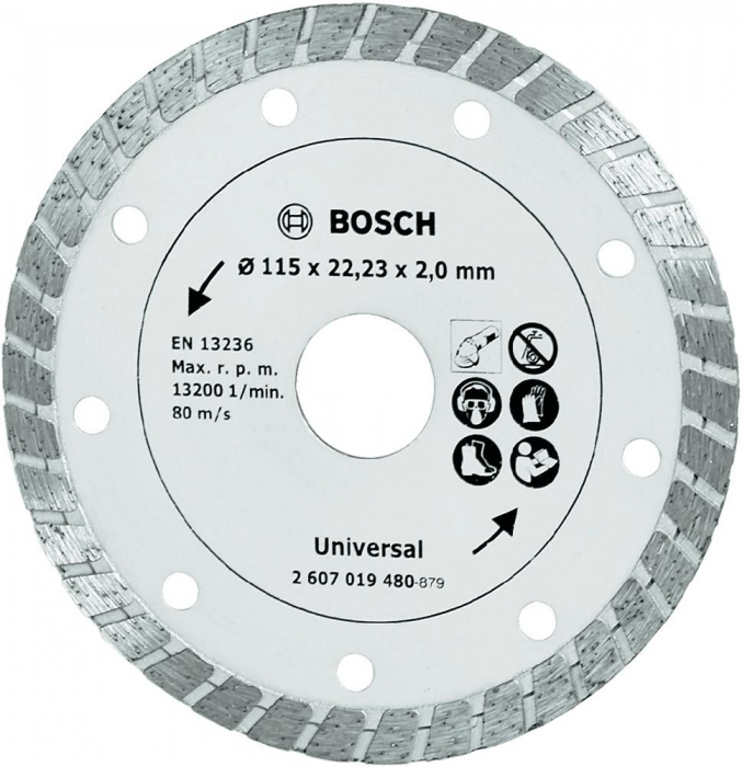 Disc de taiere diamantat Turbo 115mm [0]